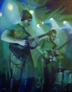Stage Lights Painting Originals - Vanquished by Jean  Smith