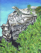 Ruins Mixed Media Originals - Vantage Point  by Renee Catherine Wittmann