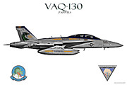 Fa-18 Posters - VAQ-130 Growler Poster by Clay Greunke