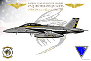 Fa-18 Posters - VAQ-138 Growler Poster by Clay Greunke