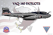 F-18 Digital Art - Vaq-140 by Clay Greunke