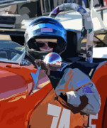 Race Drivers Photos - Vara Driver by Tom Griffithe