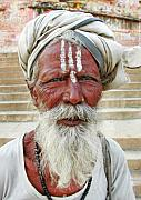 Portrait Photography Framed Prints - Varanasi Sadhu Framed Print by Skip Hunt