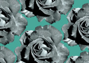 Grey Digital Art Prints - Varas Rose 18 Print by Per Lidvall
