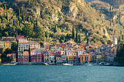 Colorful Village Framed Prints - Varenna village Framed Print by Mats Silvan