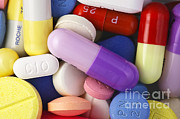 Tablets Photo Posters - Variety Of Pills Poster by M. I. Walker