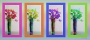 Reception Room Posters - Variety Tetraptych Poster by Cheryl Young