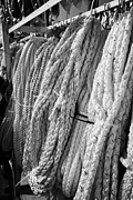 Ropes Prints - Various Braided Ropes For Sale At Boat Jumble Sale In The Uk Print by Joe Fox