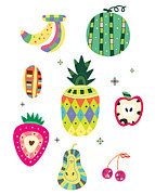 Food And Beverage Digital Art - Various Kinds Of Fruit by Eastnine Inc.