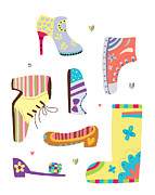 Shoe Digital Art - Various Kinds Of Shoes by Eastnine Inc.