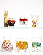 Healthcare And Medicine Art - Various Pills And Vitamins by Multi-bits
