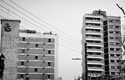 Ammochostos Prints - Varosha Forbidden Zone With Salaminia Tower Hotel Abandoned In 1974 Due To The Turkish Invasion Print by Joe Fox