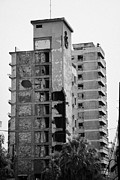 Ammochostos Posters - Varosha Forbidden Zone With Salaminia Tower Hotel Abandoned In 1974 Turkish Invasion Famagusta Poster by Joe Fox