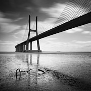Lisboa Prints - Vasco da Gama Bridge I Print by Nina Papiorek