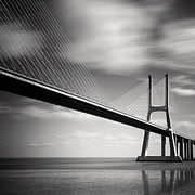 Portugal Posters - Vasco da Gama Bridge II Poster by Nina Papiorek