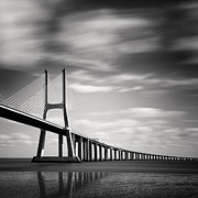Lisboa Framed Prints - Vasco da Gama Bridge III Framed Print by Nina Papiorek
