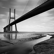 Europe Photo Framed Prints - Vasco da Gama Bridge IV Framed Print by Nina Papiorek