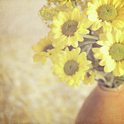 Soft Focus Art - Vase Full Of Yellow Flowers by Photo - Lyn Randle