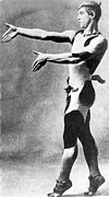 Ballet Dancer Framed Prints - Vaslav Nijinsky, Russian Dancer Framed Print by Everett