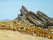 Vasquez Rocks Looking South Print by Stephen Ponting