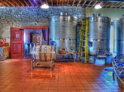 Vino Photos - Vat to Barrel II by Jimmy Ostgard