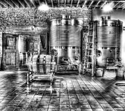 Wine Barrel Photo Metal Prints - Vat to Barrel Metal Print by Jimmy Ostgard