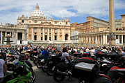 Benedict Framed Prints - Vatican Bikers Framed Print by Andrew Fare