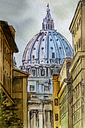State Paintings - Vatican City by Irina Sztukowski