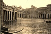 Vatican Paintings - Vatican in the Rain by Vannucci Fine Art