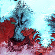 Ice Cap Framed Prints - Vatnajokull Glacier Ice Cap, Iceland Framed Print by Nasa