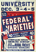 Silkscreen Art - Vaudeville. Federal Varieties 40 Stage by Everett