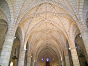 Dominican Republic Prints - Vaulted Ceiling and Arches Print by Douglas Barnett