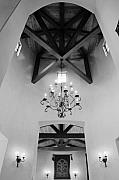 Chandelier Prints - Vaulted Ceiling Print by Jill Reger