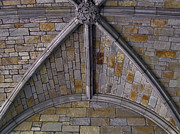 University Of Michigan Posters - Vaulted Stone Ceiling Poster by Richard Gregurich