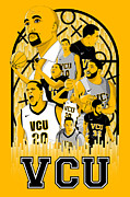 Basketball Sports Digital Art - VCU Basketball by Adam Campbell