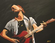 Pearl Jam Paintings - Vedder by Steven Dopka