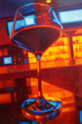 Wine Glasses Paintings - Vegas Baby by Penelope Moore