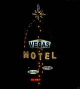 Motel Art Posters - Vegas Motel  Poster by David Lee Thompson