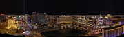 Panorama Prints - Vegas Strip from Eiffel Tower Print by Metro DC Photography
