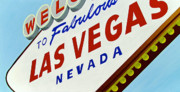 Iconic Metal Prints - Vegas Tribute Metal Print by Slade Roberts