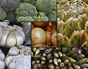 Broccoli Photo Prints - Vegetable Montage Print by Forest Alan Lee
