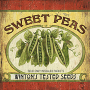 Peas Prints - Veggie Seed Pack 1 Print by Debbie DeWitt