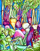 Vegetables Paintings - Veggies by Gail Zavala