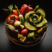 Lettuce Photos - Vegie Basket by Bob Nardi