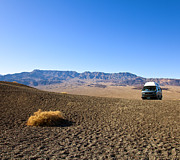 Arid Photos - Vehicle in Desert Landscape by David Buffington