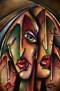 Urban Expressions Framed Prints - Veils of Sienna Framed Print by Michael Lang
