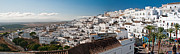 Residents Framed Prints - Vejer de la Fontere Spain Panorama Framed Print by Jim Chamberlain