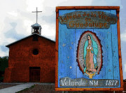 Virgin Mary Acrylic Prints - Velarde Church 1817 Acrylic Print by David Lee Thompson