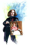 Spaniards Paintings - Velasquez by Ken Meyer jr