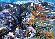 Abstracted Paintings - Velebit Paklenica Canyon by Lidija Ivanek